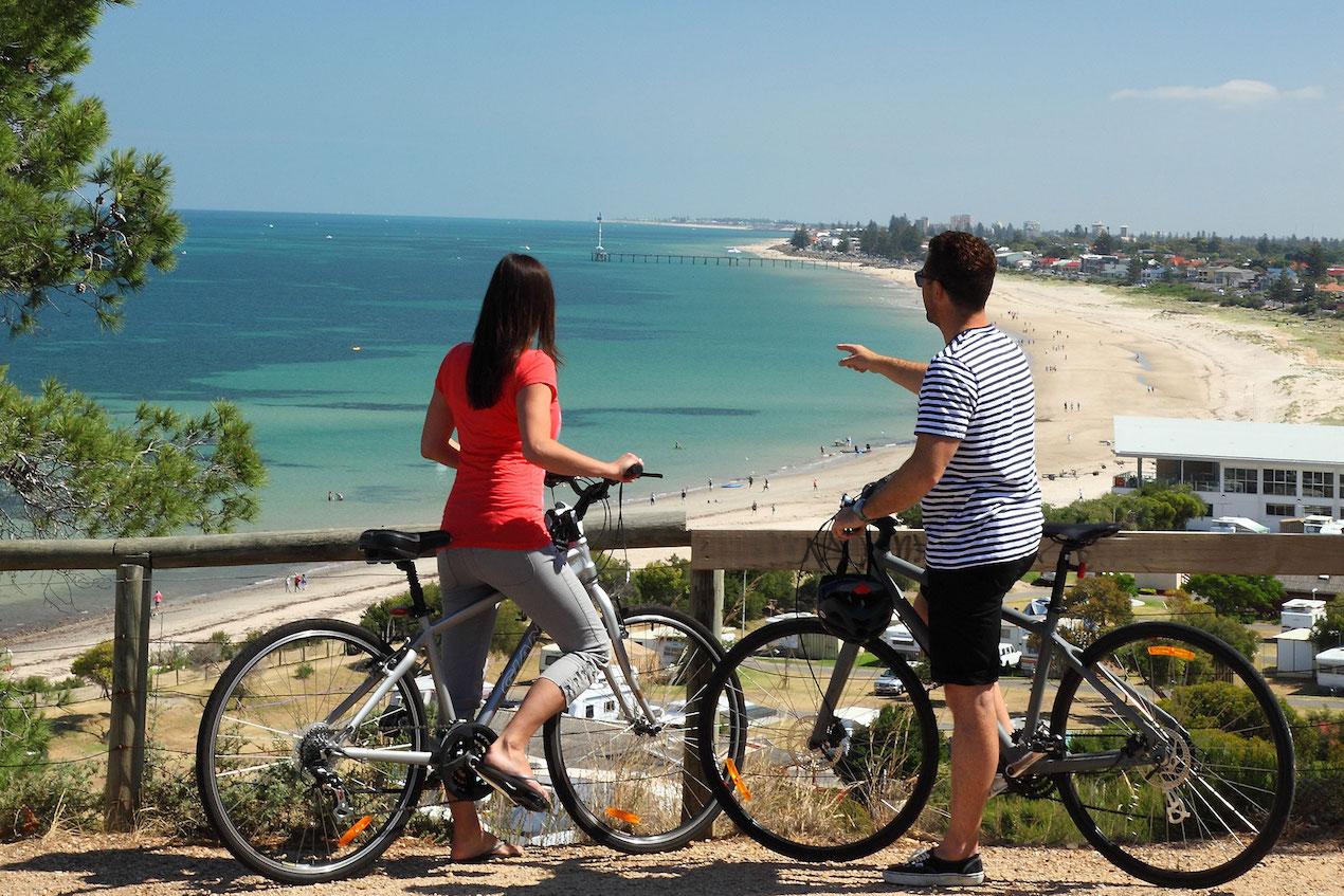 استخدام الدراجة في أديلايد