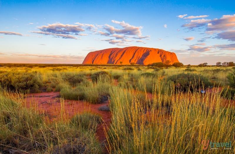الغروب في أولورو Uluru